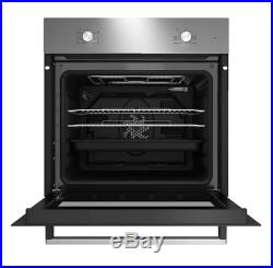 Beko QSE222X Stainless steel Single Multifunction Oven & ceramic hob pack, NEW