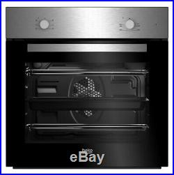 Beko QSE223SX Stainless steel Single Multifunction Oven & gas hob pack HOBBY