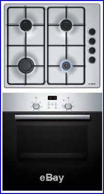 Bosch HBN2PBP6E1 Stainless steel Single Oven & gas hob pack