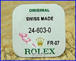 Brand New Genuine Rolex Crown 24-603-0 Stainless Steel GMT/Date Just Sealed Pack
