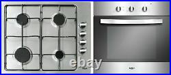 Bush LSBGHP Built In 60cm Electric Oven with 4 Burner Gas Hob Pack