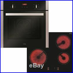 CDA CBC203SS Ceramic Hob And Four Function Single Fan Oven Pack CBC203SS