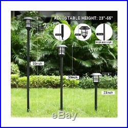 Camabel 005 Solar Torches Light LED Flicking Flame Outdoor Garden Walkway 4 Pack