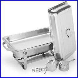 Chafing Dish Set 4 Packs of 9L Chafer Dish Stainless Steel Buffet Warmer Tray