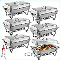 Chafing Dish Set 6 Packs of 9L Chafer Dish Buffet Catering Food Warmer Pans Tray