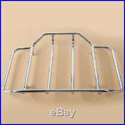Chopped Tour Pak Pack Trunk Backrest +Two Up Rack For Harley Street Glide 14-18