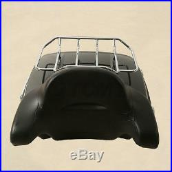 Chopped Tour Pak Pack Trunk Backrest with Solo Mount Rack For Harley Touring 14-18