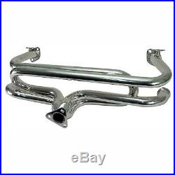 Classic Vw Beetle Dual Quiet Pack Exhaust With Stainless Steel Extractor