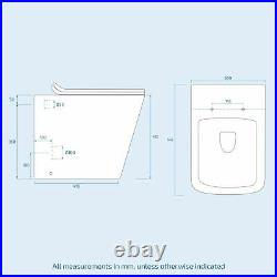 Cloakroom Basin Sink Vanity Unit and WC Toilet Compact Bathroom Flat Pack Inton