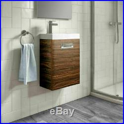 Close Coupled Toilet & Wall Mounted Bathroom Vanity Unit Cloakroom Suite Pack