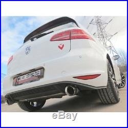 Cobra Sport VW Golf Mk7 5G With Sound Pack GTI Style Rear Section Exhaust BLACK