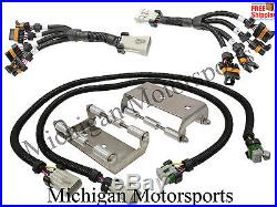 Coil Pack Relocation Kit For Ls Ls Lsx Stainless Steel Brackets And Harness Fuae on Ls Coil Pack Relocation Bracket