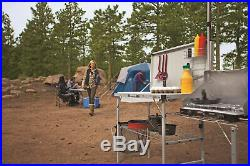 Coleman Pack-Away Deluxe Portable Kitchen Table Camping With A REMOVABLE Sink
