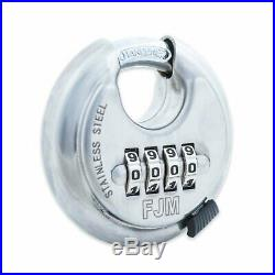 Combination Disc Padlock FJM SX 790 Stainless Steel 4 Number Resettable
