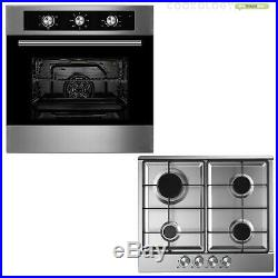Cookology 60cm Built-in Electric Fan Oven, Gas Hob & Angled Cooker Hood Pack