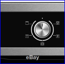 Cookology 60cm Built-in Electric Fan Oven, S/Steel Gas Hob & Curved Hood Pack
