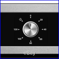 Cookology 60cm Built-in Electric Fan Oven & Stainless Steel Solid Plate Hob Pack