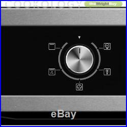 Cookology 60cm Built-in Electric Programmable Fan Oven & Gas-on-Glass Hob Pack