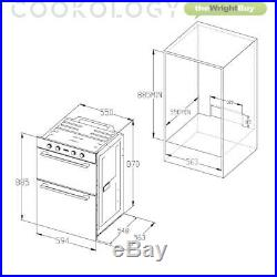 Cookology 60cm Built-in Tall Double Oven, S/Steel Gas Hob & Cooker Hood Pack