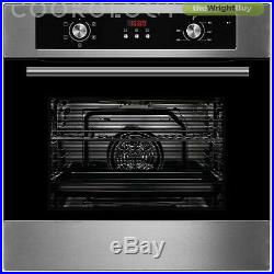 Cookology 60cm Digital Timer Fan Oven & Touch Control Induction Hob Pack