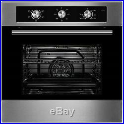 Cookology 60cm Electric Fan Oven, Knob Control Ceramic Hob & Angled Hood Pack