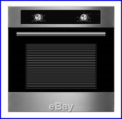 Cookology 60cm Electric Static Oven & Solid Plate Hob Pack in Stainless Steel