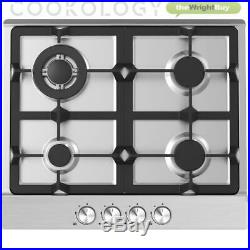 Cookology 60cm Pyrolytic Self Cleaning Fan Oven & Stainless Steel Gas Hob Pack
