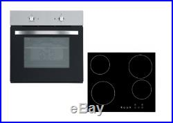Cookology 60cm Stainless Steel Single Electric Fan Oven & Ceramic Hob Pack