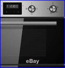 Cookology Built-in Tall Double Oven, S/Steel Gas Hob & Curved Glass Hood Pack