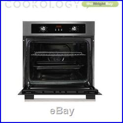 Cookology Digital Fan Oven, Touch Control Induction Hob & Curved Glass Hood Pack