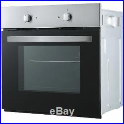 Cookology Fan Forced Oven, 60cm Touch Control Ceramic Hob & Visor Hood Pack