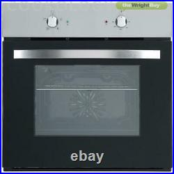 Cookology Fan Oven & 70cm 5 Burner Gas Hob in Stainless Steel Pack
