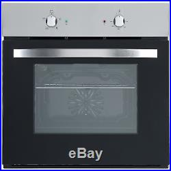 Cookology Fan Oven, Cast-Iron/Stainless Steel Gas Hob & Curved Glass Hood Pack