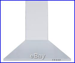 Cookology GH605SS Gas Hob & 60cm Stainless Steel Chimney Cooker Hood Pack