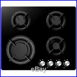 Cookology Pyrolytic 60cm Single Fan Oven & Easy-Clean Gas-on-Glass Gas Hob Pack