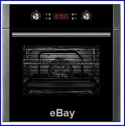 Cookology Pyrolytic Oven, Electric Touch Control Ceramic Hob & Curved Hood Pack