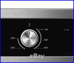 Cookology S/Steel 60cm Built-in Electric Static Oven & Gas-on-Glass Hob Pack
