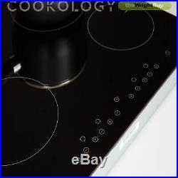 Cookology S/Steel Built-under Double Oven, Ceramic Hob & Curved Glass Hood Pack