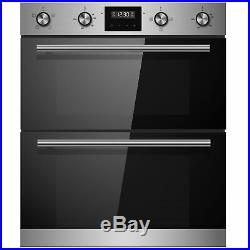 Cookology Stainless Steel Built-under Double Oven & 60cm Built-in Gas Hob Pack