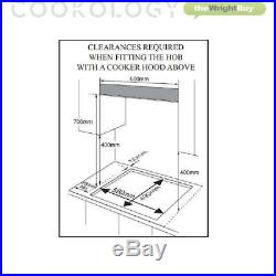 Cookology Stainless Steel Built-under Double Oven, Gas Hob & Chimney Hood Pack