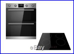 Cookology Stainless Steel Built-under Double Oven & Induction Hob Pack