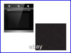 Cookology TOF600SS 72L Built-In Stainless Steel Oven & 60cm Induction Hob Pack