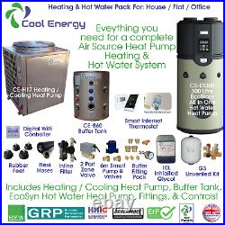 Cool Energy Complete Air Source Heat Pump Heating & Hot Water System Pack 4
