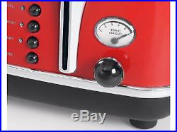 DeLonghi CTO4003R KBO2001R Icona 4 Slice Toaster & Kettle PACK Red