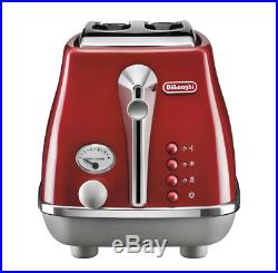 Delonghi CTOC2003R KBOC2001R Icona Capitals 2 Slice Toaster + Kettle PACK Red