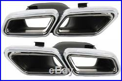 Diffuser & Exhaust Tips for Mercedes E W212 Facelift 2013-2016 Sport Pack Black