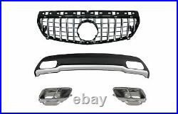 Diffuser Exhaust Tips for Mercedes W176 12-08.18 A Sport Pack Grille GT-R