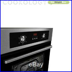 Electric Oven Gas Hob Pack Cookology 60cm Built-in Fan Oven, Stainless Steel Hob