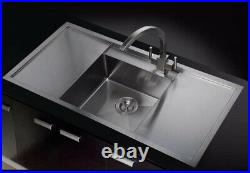 Exeter 1 Bowl Stainless Steel Sink + Free Accessories Pack RRP £425