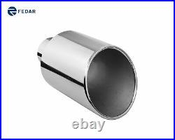 Fedar 4 inch Inlet 8 inch Outlet 15 inch angle Cut Exhaust Tip Tail Pipe 2-pack